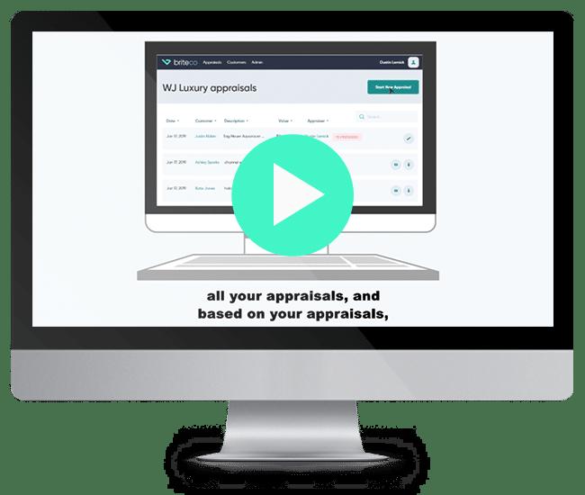 Mac Monitor display of BriteCo Jewelry Appraisal Software