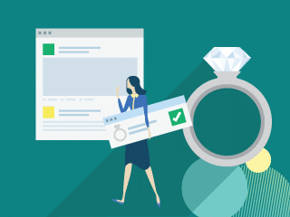 Woman getting BriteCo Engagement Ring Insurance through the Shopify App