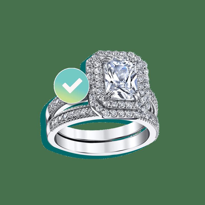 Large Diamond ring insured by BriteCo Jewelry Insurance