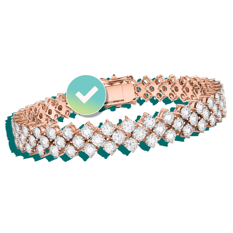 Rose gold and diamond bracelet insured by BriteCo Jewelry Insurance