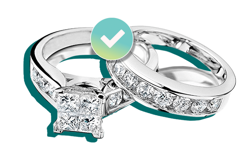 Diamond engagement ring set insured by BriteCo Jewelry Insurance