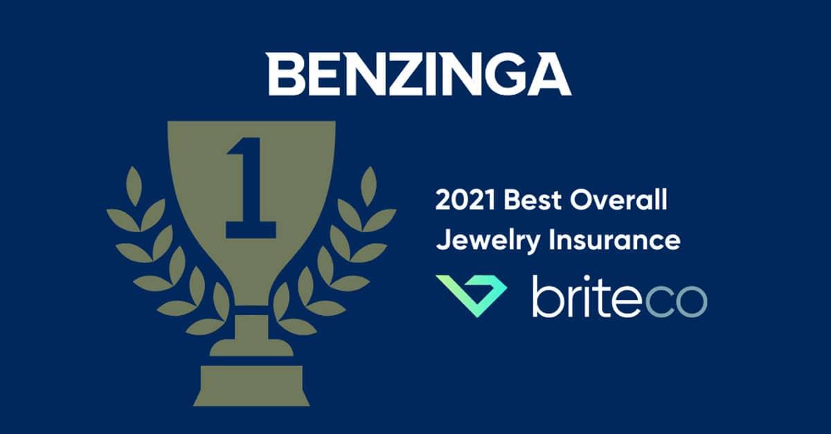 BriteCo Named Best Jewelry Insurance by Benzinga