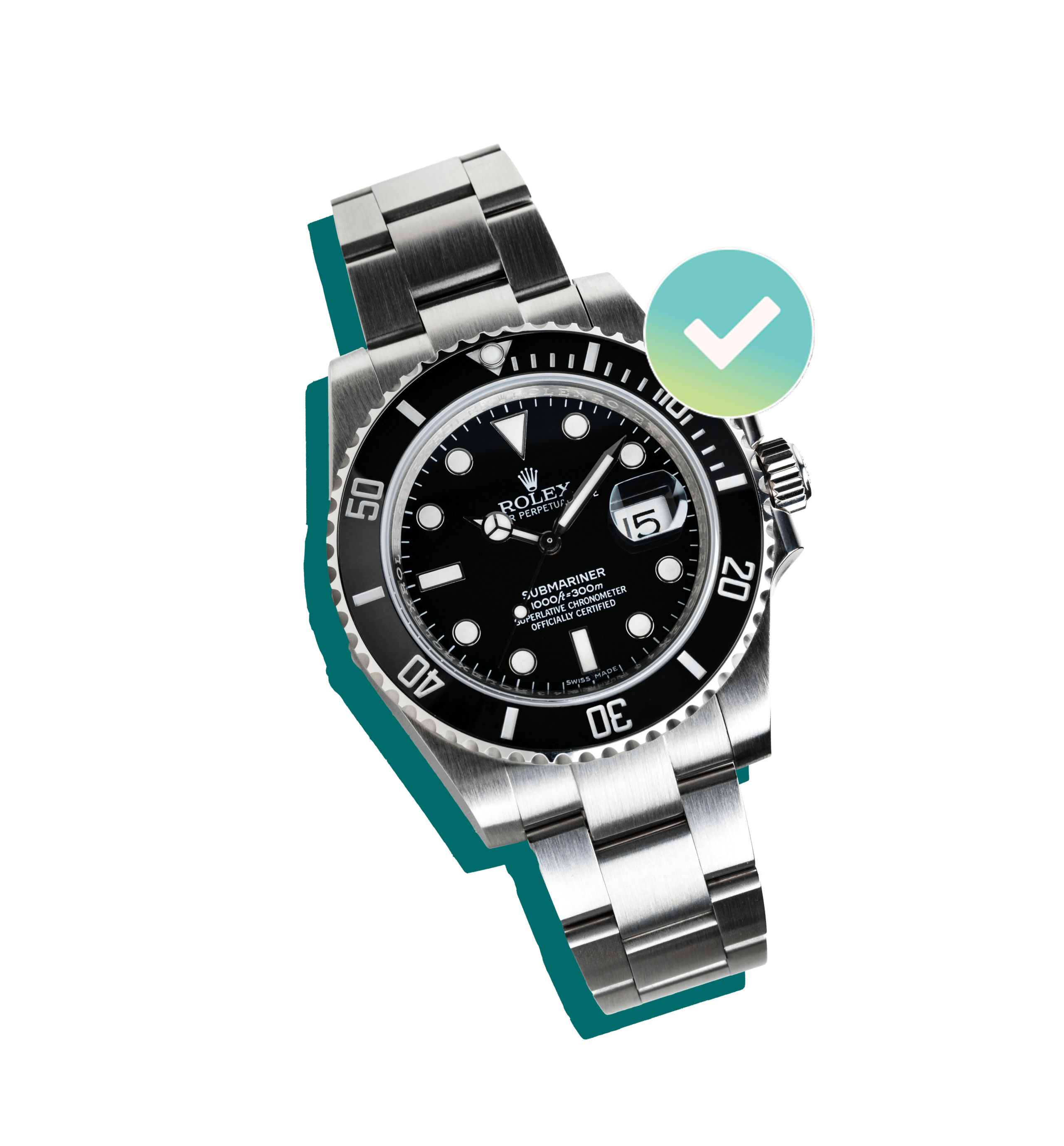 Rolex Watch with black dial insured by BriteCo Watch Insurance